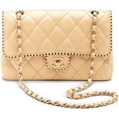 What Goes Around Comes Around Vintage Chanel Cream Half Flap Two-Tone Trim  Lambskin Bag 897e1af9067f3