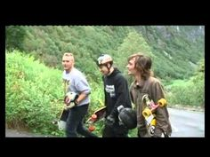 Extreme Sports Week at Voss, Norway. This take is from 2010. Stalheimskleiva - extreme road for Longboarding!