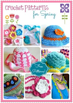 My Merry Messy Life: 10 Free Crochet Patterns for Spring including sun hats, headbands, a scarflette and flowers!