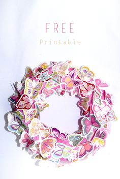 Lovely French site with free printable papillon wreath and other lovely items