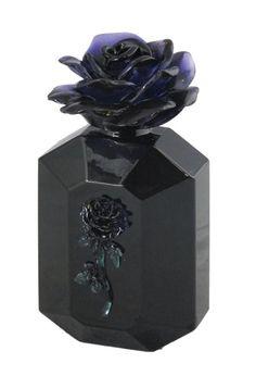 BLACK ROSE PERFUME BOTTLE (BLACK W/ BLACK ROSE)