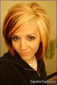 long, straight, blonde, red, highlights hair at Hipster Hair : Hairstyle Photo Search