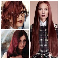 rosewood red hair color idea