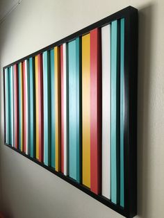Wood wall art, reclaimed wood art, modern art, abstract wood art, home decor. This piece of art was created with upcycled wood scraps and were cut at random depths, lengths and widths to create amazing look in this piece. This piece measures 24 X 48 Made to order. Please contact me