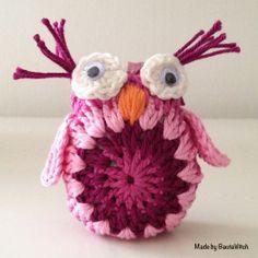 ao with <3 / Virkad rosa uggla made by BautaWitch, free pattern Swedish