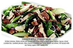 OCharleys Restaurant Copycat Recipes: Chicken Apple Spinach Salad