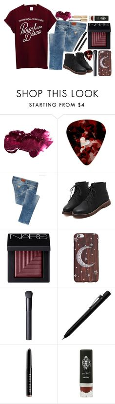 """~symphonies buzzing in my head~"" by bachelors-new-clothes ❤ liked on Polyvore featuring Anastasia Beverly Hills, GUESS, NARS Cosmetics, Faber-Castell, Bobbi Brown Cosmetics and Stila"