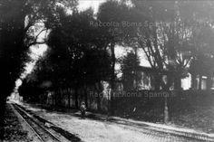 Via di San Gregorio nel suo aspetto originario prima dell'allargamento degli anni trenta,quando fu rinominata Via dei Trionfi. L'edificio che si intravede nella foto e' l'Antiquarium Comunale del Celio, semicrollato ed evacuato nel 1939 in seguito ai lavori della Metropolitana Anno: ante 1930
