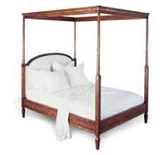 Neirmann Weeks Loius XVI Canopy Bed 62-00596-qn-92