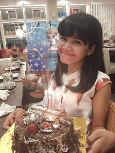Girl on birthday