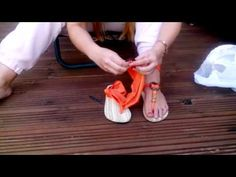 Chameleon Swap-Top FlipFlops - How to add beads and fasten Coco wood buckle