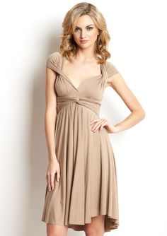 """The Infinity Dress by TART must be one of the most versatile dresses ever made.  The top part is fully convertible and you can wear it in many ways (one shoulder, v-neck, halter, a """"normal"""" dress...etc).  Amazing.  It's like buying 10 dresses in one go."""