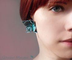 origami flower lovely romantic earings  $10