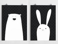 Pack of 2 - Polar & Bunny - A grape design