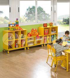 Muebles bajos para juegos escolares