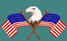 4th of july eagle clipart