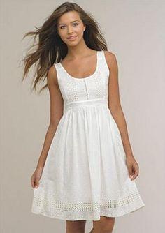 casual white dress - Buscar con Google