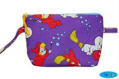 NEW Casper Zipper Bag  Wendy and Casper Makeup Bag  by SewFlo, $20.99