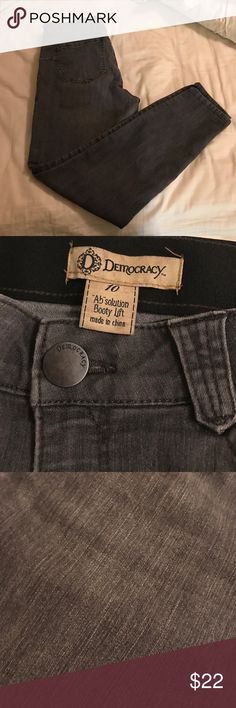 Democracy ab solution and booty lift skinny Jean Grey wash skinny Jean with stretch. My favorite pants. Just now need a smaller size. Holds you in and shapes your booty. Super comfortable. democracy Jeans Skinny