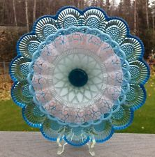 **Beautiful Vintage Glass Plate Suncatcher Garden Yard Art**