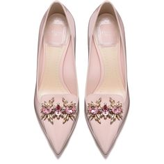 POWDER PINK PATENT CALFSKIN LEATHER PUMP, 7 CM ❤ liked on Polyvore featuring shoes, pumps, heels, pink shoes, heel pump, pink patent pumps, patent leather pumps and patent shoes