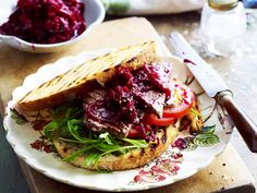 A sweet and sticky caramelised onion and beetroot relish that is perfect for burgers and sandwiches.