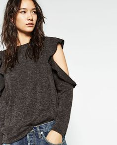 Image 2 of CUT-OUT T-SHIRT from Zara