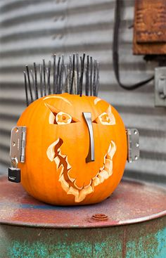 Get creative with your pumpkin carving this Halloween! --Lowe's Creative Ideas