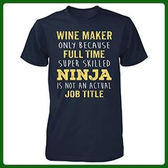 Best Gift Idea For A Super Skilled Ninja Wine Maker - Unisex Tshirt Navy 2XL - Food and drink shirts (*Amazon Partner-Link)
