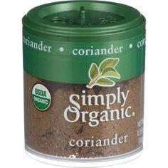 Simply Organic Coriander Seed - Organic - Ground - .35 Oz - Case Of 6  #inspiredbeacon #love #organic  #Kosher #95%+Organic #SaltSpiceAndSeasoning