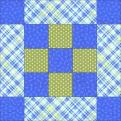 Framed Nine Patch Quilt Block Pattern - Janet Wickell
