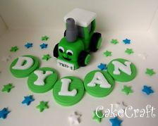 TRACTOR TED,Tractor, name,Boys  Handmade edible birthday cake decorations topper 13.99