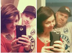 Mom and dad copy sons Facebook photo