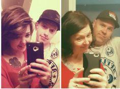 Mom and dad copy sons Facebook photo