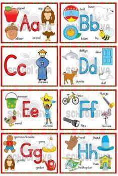 Ek ken my Alfabet - School Diva Alphabet Pictures, Alphabet Charts, Ocd, Child Development, Bloom, Kids Rugs, Education, Children, Decor