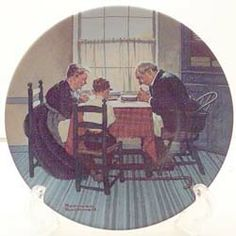 This is Family Grace from the Heritage series by Knowles. Available now at www.rockwellplates.com. Norman Rockwell, Display, Collection, Home Decor, Floor Space, Decoration Home, Billboard, Room Decor, Interior Decorating
