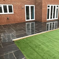Our Kotah Black Limestone Paving Patio Kit is suited to the British climate and looks stunning when wet, revealing its jet black sheen. You are in the right place about new home maintenance Here we of Limestone Paving, Paving Slabs, Paving Stones, Medan, Patio Kits, Patio Ideas, Garden Ideas, Backyard Ideas, Garden Paving