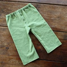 Organic granny smith green pants