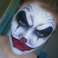 What a wonderful job on face paint. {Scary Clown by Becky Flateau} | See more about Scary Clowns, Clowns and Clown Makeup.