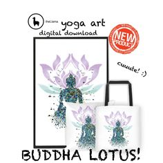 Beautiful Buddha lotus art! New products and digital download available in store :)