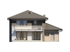 DOM.PL™ - Projekt domu TP Enes CE - DOM TP2-48 - gotowy koszt budowy House Outside Design, Design Case, Gazebo, Outdoor Structures, Model, Kiosk, Pavilion
