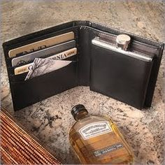 Next time you are at the football game and want to add a little something extra to your coke or you need a little liquid courage on the go! The wallet stealth flask will help you sneak booze almost anywhere!