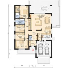 Projekt domu APS 314 od Archi-Projekt Beautiful House Plans, Beautiful Homes, House Plans Mansion, Modern House Design, Facade, My House, Sweet Home, Floor Plans, How To Plan