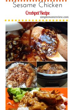 Easy and delicious Sesame Chicken made in the Crockpot!