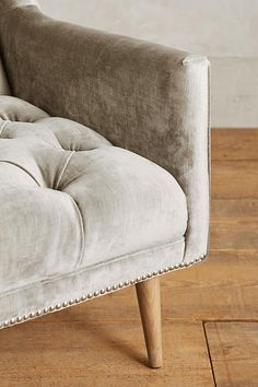 Slide View: 3: Slub Velvet Booker Armchair