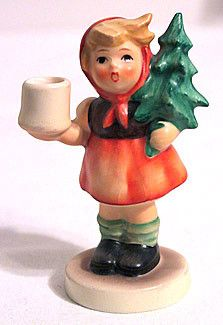 Goebel - Hummel - Girl with Fir Tree- Candle Holder - #116 - TMK5 - Lot of 2