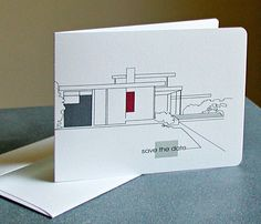Custom Modern Architecture Cards: moving, calling card, thank you, address, monogram
