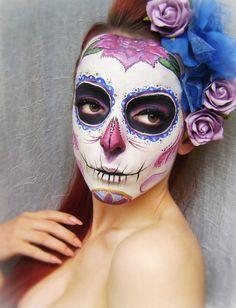 Sugar skull make up by Naida by ~KatherinBathory