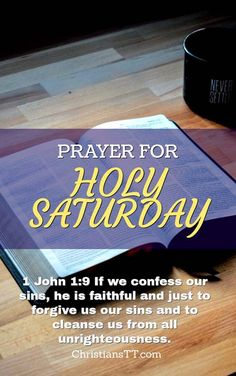Prayer for Holy Saturday pin
