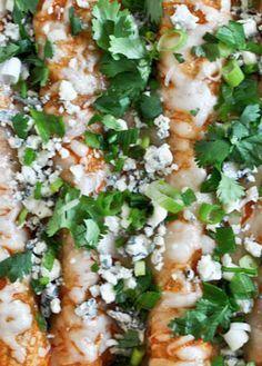 Buffalo Chicken Enchiladas | howsweeteats.com